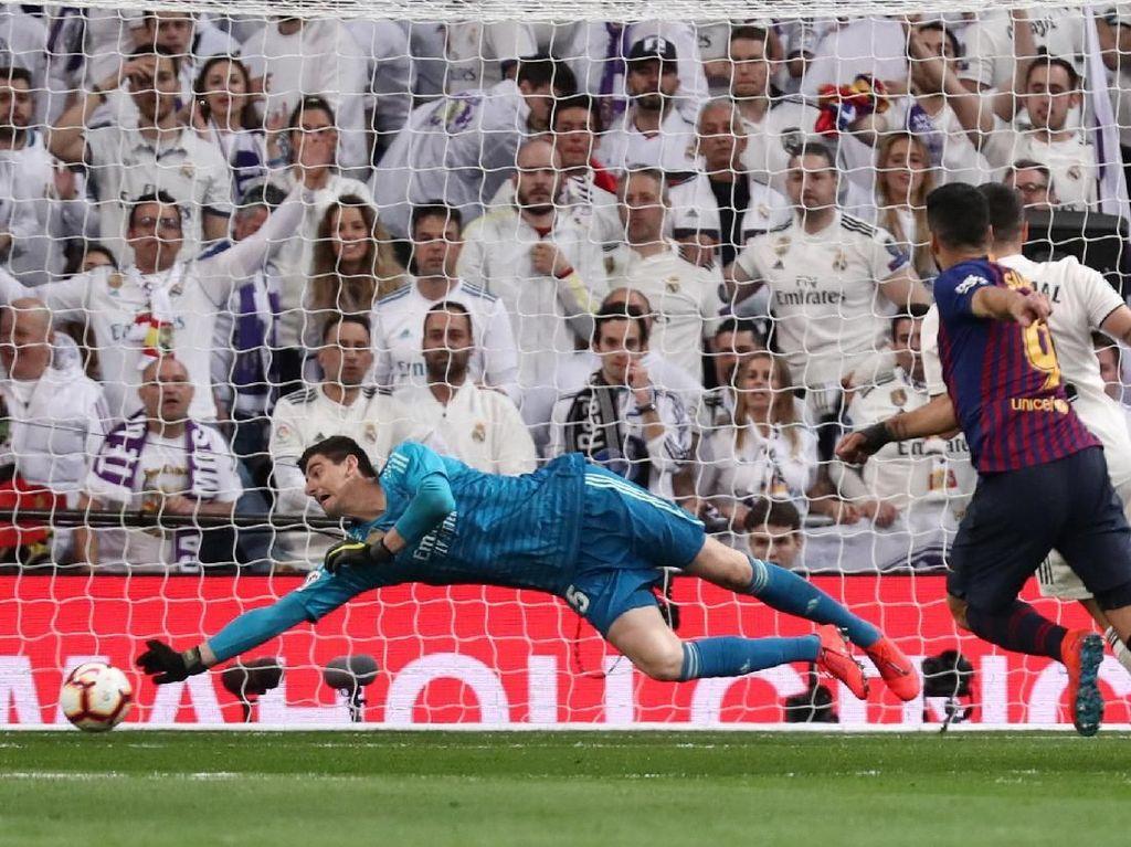 Courtois: Madrid Cuma Kurang Gol, Bolanya Tak Mau Masuk