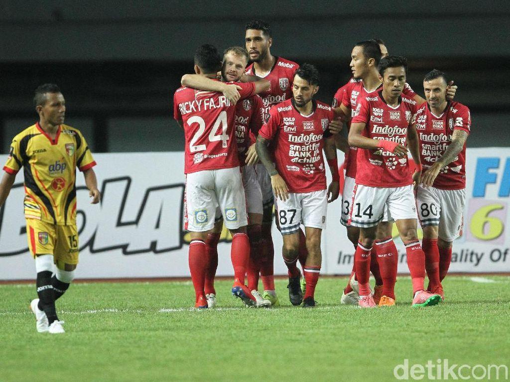 Hasil Piala Presiden: Bali United Bekap Mitra Kukar 3-0