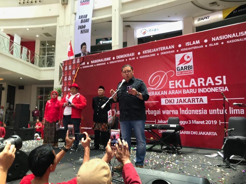 Fadli Zon Bacakan Puisi Arah Baru di Deklarasi Garbi DKI