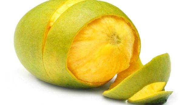 ilustrasi mangga muda