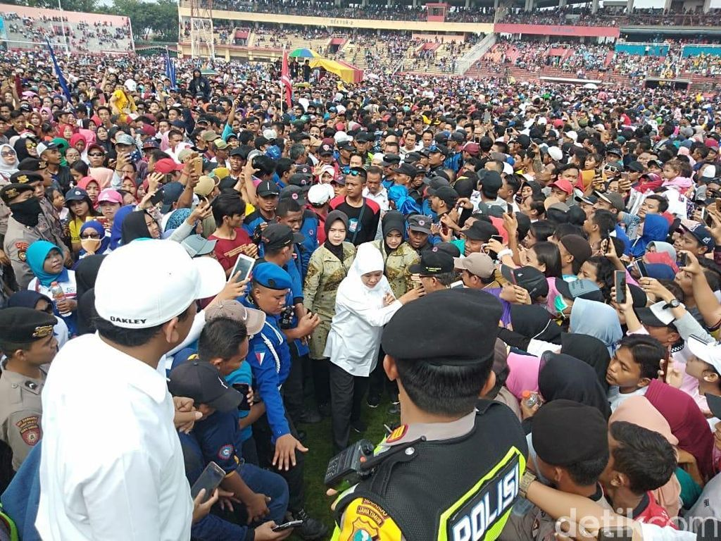 Ribuan Pekerja di Jatim Dukung Jokowi-Maruf Amin, Ini Alasannya