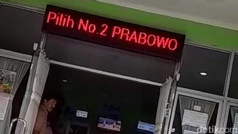 Heboh Running Text Puskesmas di Semarang Diretas Pro Prabowo