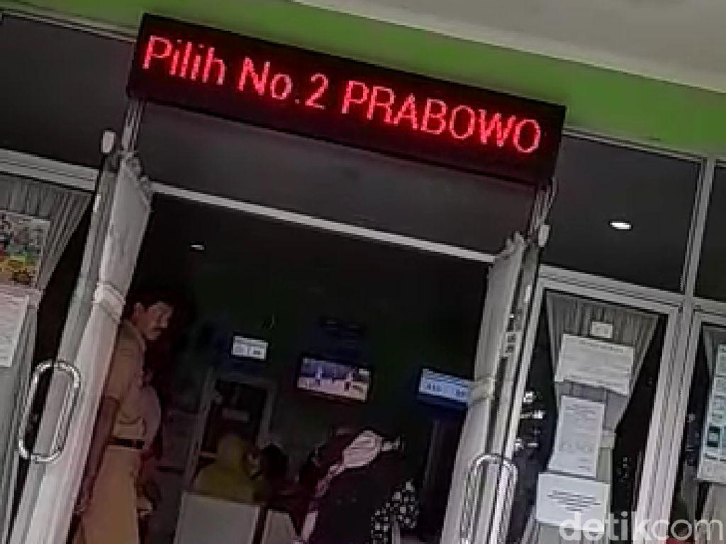 Diduga Ini Sebab Munculnya Prabowo di Running Text Puskesmas Semarang