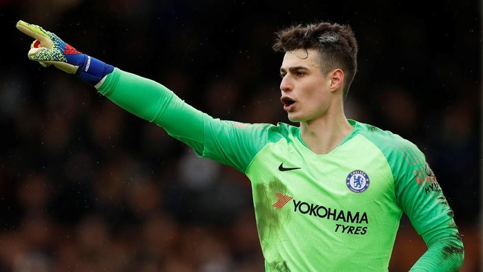 Soccer Football - Premier League - Fulham v Chelsea - Craven Cottage, London, Britain - March 3, 2019  Chelseas Kepa Arrizabalaga    Action Images via Reuters/John Sibley  EDITORIAL USE ONLY. No use with unauthorized audio, video, data, fixture lists, club/league logos or