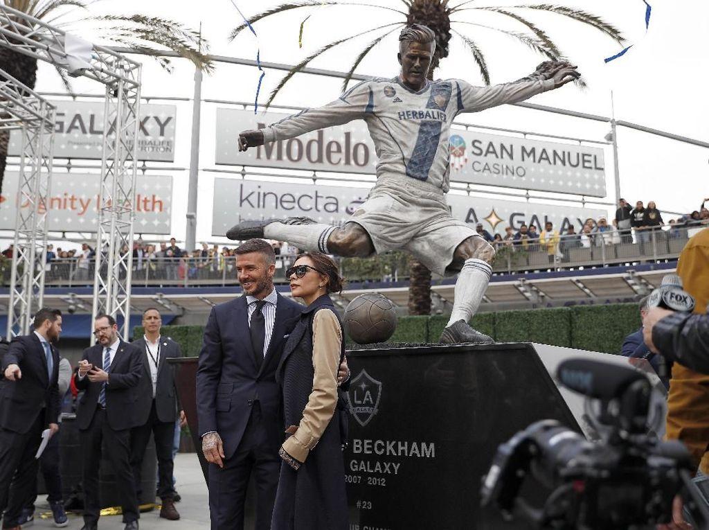 David Beckham Diabadikan dalam Wujud Patung oleh LA Galaxy