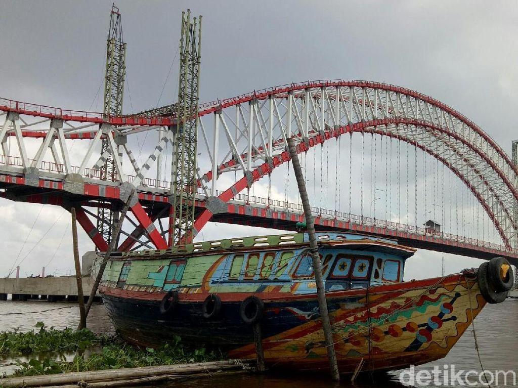 Terhambat Rumah Warga, Proyek Jembatan Musi VI Disetop
