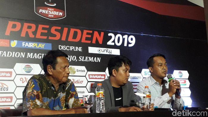 Konferensi pers jelang digelarnya Piala Presiden 2019 di Sleman. (Foto: Ristu Hanafi/detikcom)