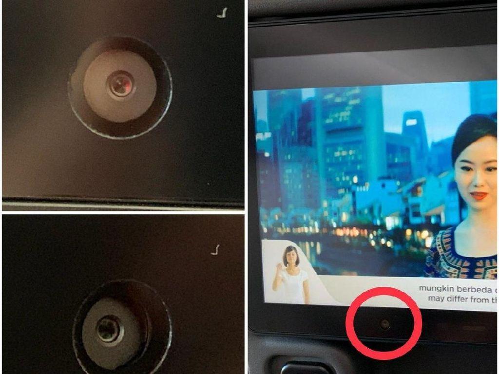 Kursi Pesawat Dipasangi Kamera Pengawas, Bolehkah?