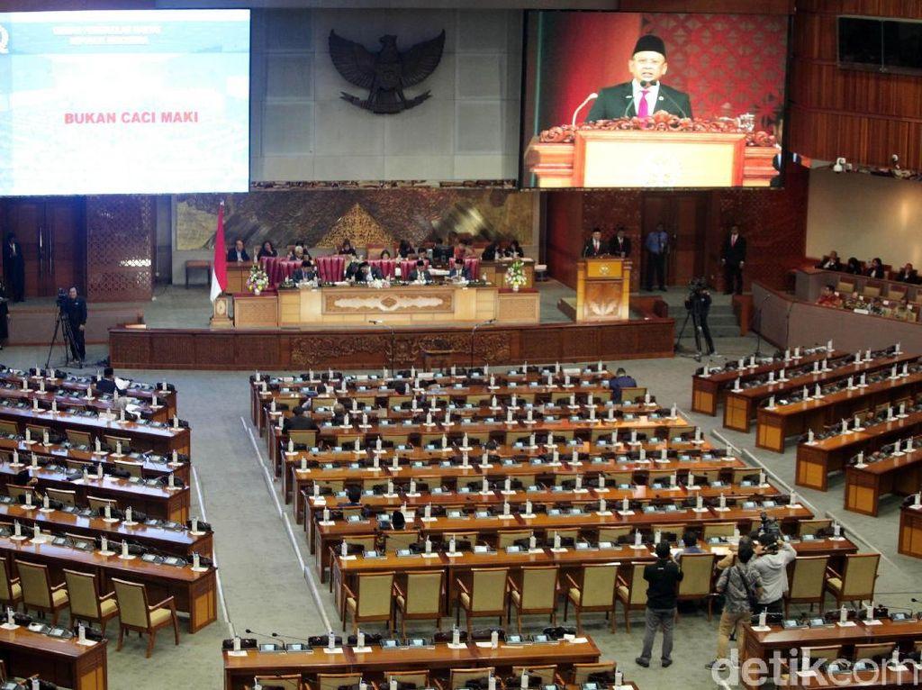 Sidang Paripurna Sahkan Penolakan DPR terhadap 4 Calon Hakim Agung