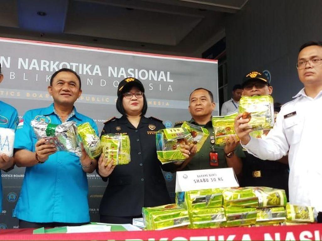 BNN-Bea Cukai Medan Gagalkan Penyelundupan Sabu 30 Kg dari Malaysia