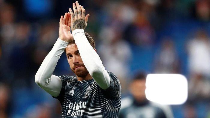 Bek sekaligus kapten Real Madrid Sergio Ramos. (Foto: Juan Medina / Reuters)
