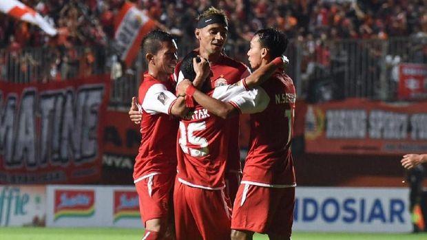 Bruno Matos cetak gol ke gawang Shan United.