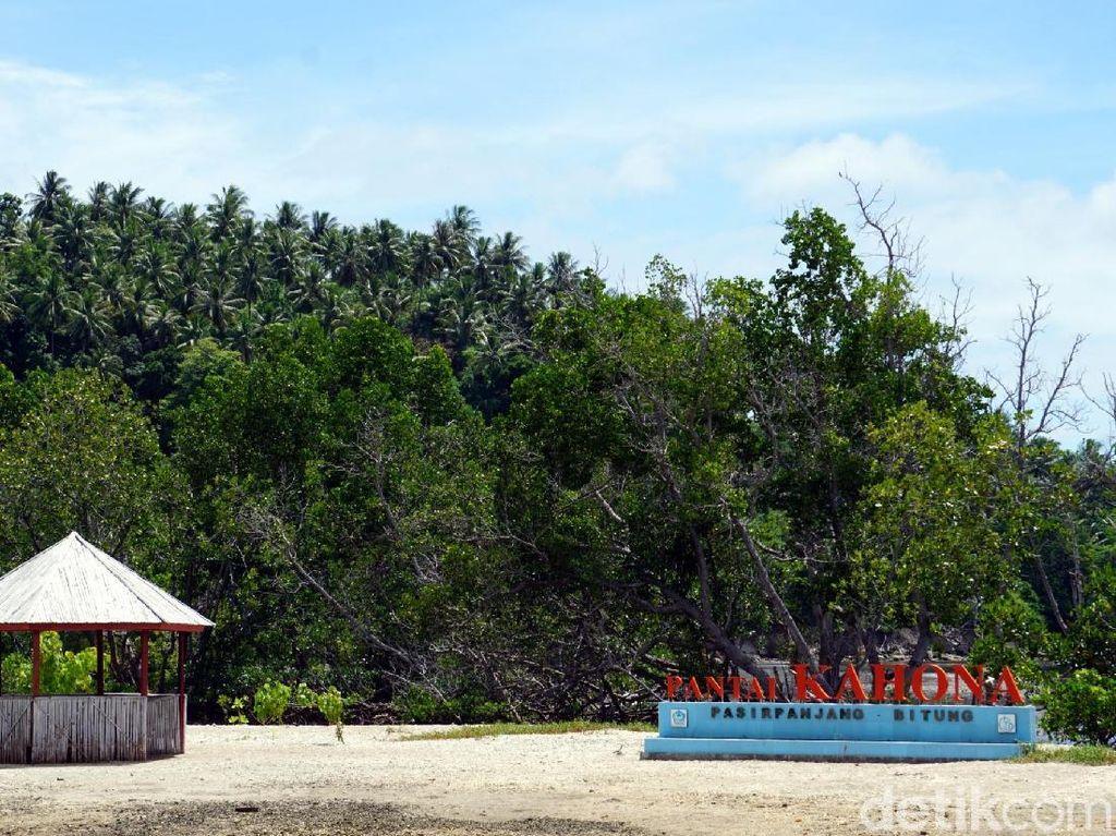 Kahona, Pantai Eksotis dari Pulau Lembeh