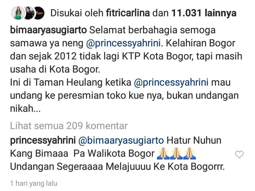 Pesta Belum Usai! Syahrini Janji Kirim Undangan ke Wali Kota Bogor