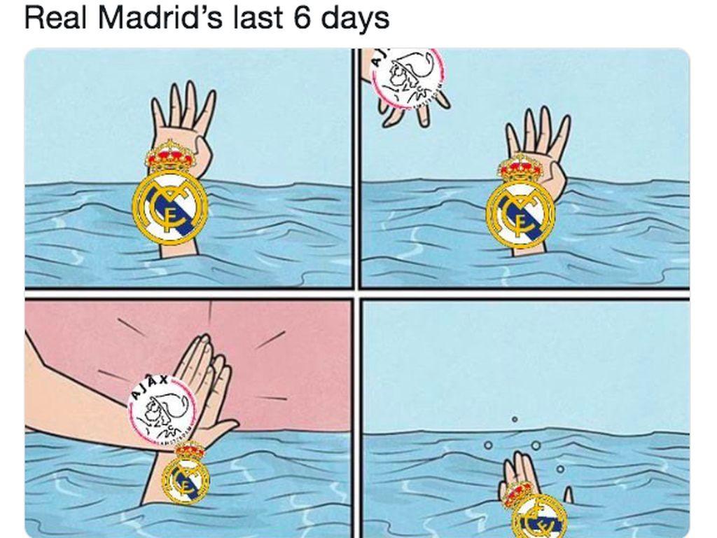 Humor Online Kemalangan Real Madrid Dilibas Ajax