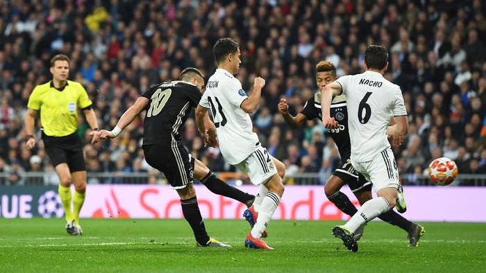 Ajax lolos ke perempatfinal Liga Champions usai menyingkirkan Real Madrid (Foto: David Ramos/Getty Images)