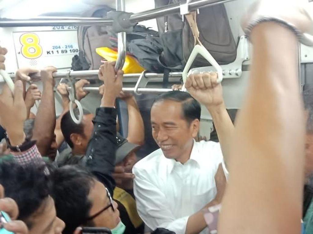 Masukan Saat Berdesakan di KRL Bikin Mantap Jokowi dengan Jalur Layang