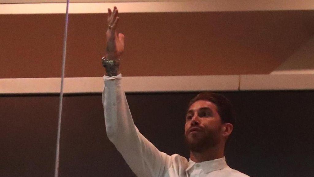 Ekspresi Gemas Sergio Ramos Lihat Kekalahan Madrid