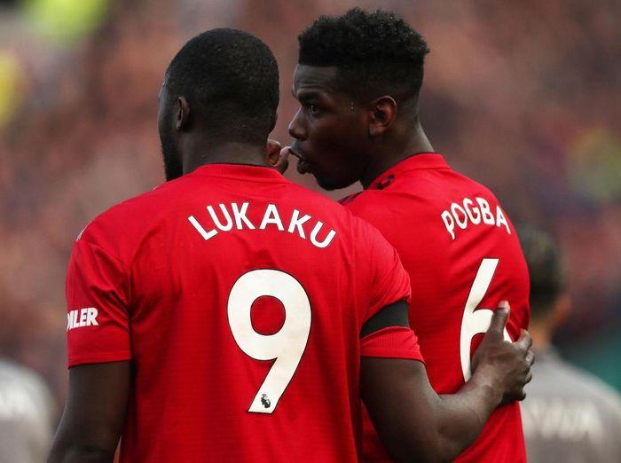 Dua pemain Manchester United, Paul Pogba dan Romelu Lukaku, yang dikabarkan akan hengkang. (Foto: Lee Smith/Reuters)