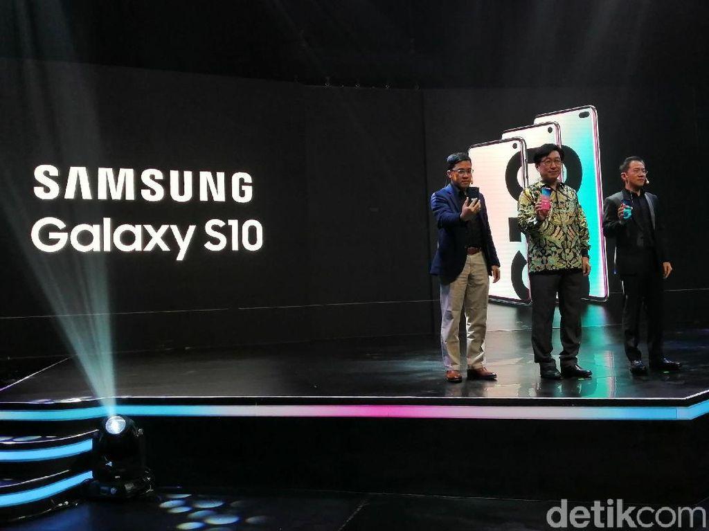 Trio Samsung Galaxy S10 Resmi Mendarat di Indonesia