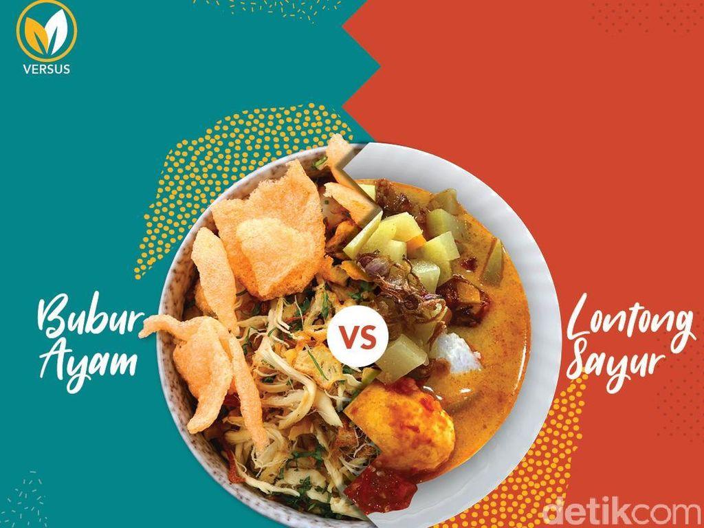 Sarapan Bubur Ayam atau Lontong Sayur, Siapa yang Lebih Bikin Gemuk?