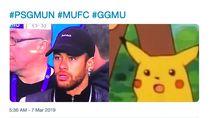 Ada Neymar Tiru Pikachu dalam Ragam Meme MU Singkirkan PSG