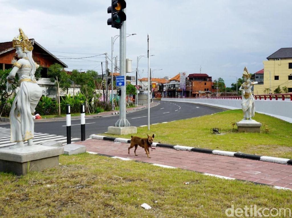 Begini Potret Jalanan di Bali Saat Nyepi
