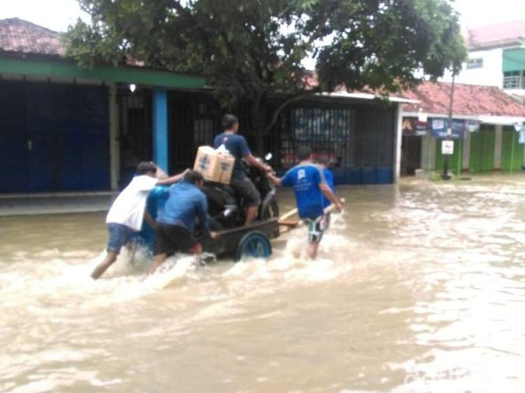 Sungai Gamping Klaten Meluap, 50 Hektare Sawah Kebanjiran