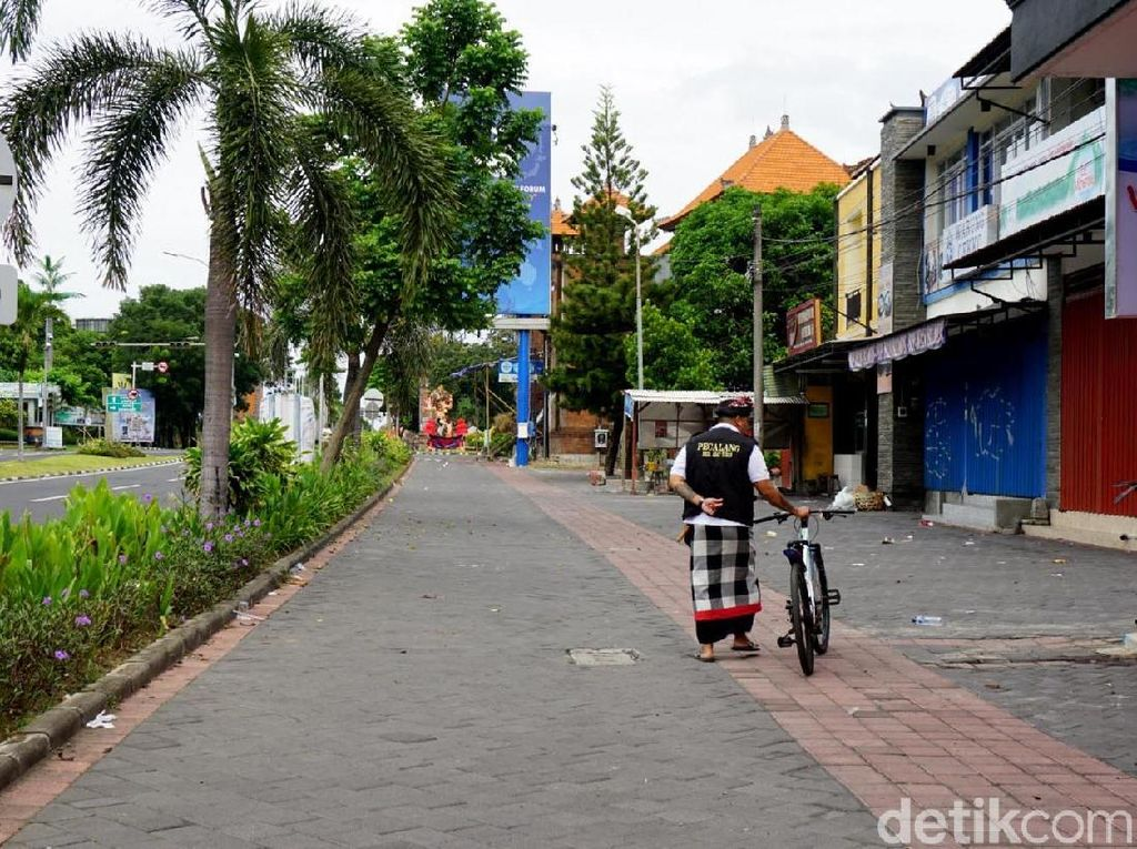 Potret Sepinya Bali Saat Nyepi