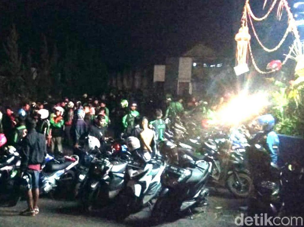 Rekannya Dipukul, Massa Ojol Datangi Pangkalan Ojek di Sukabumi