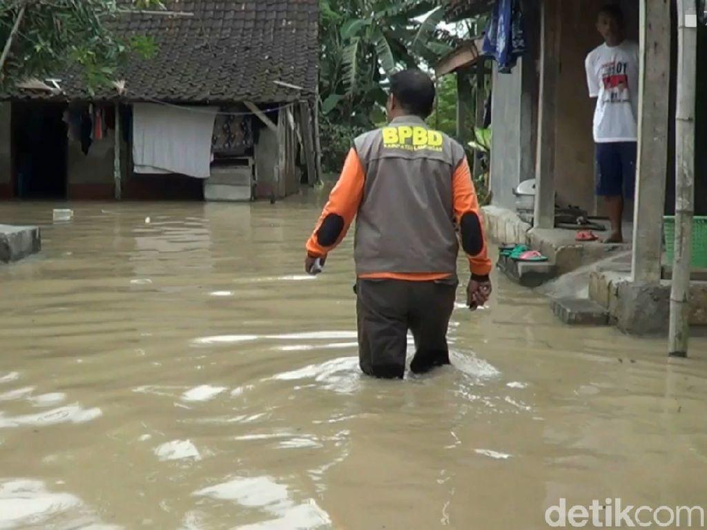 Bengawan Solo Meluap, 9 Desa di 3 Kecamatan Lamongan Banjir