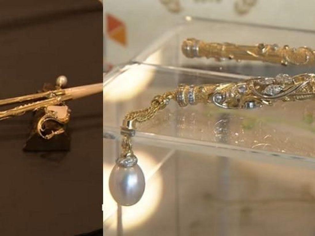 Wow! Sumpit Termahal Seharga Rp 1,9 M Terbuat dari Emas