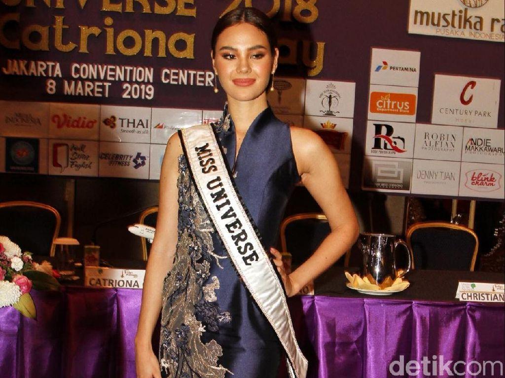 Datang ke Jakarta, Miss Universe Catriona Gray Terpesona Budaya Indonesia