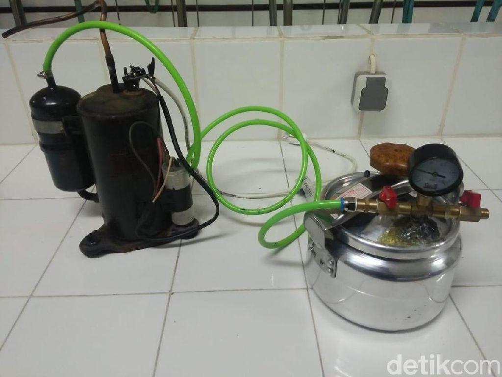 Mahasiswa ITS Rancang Alat Pengering Cabai dengan Vacuum Drying