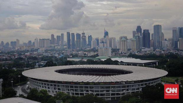 Suasana Stadion Utama Gelora Bung Karno (SUGBK). CNN Indonesia/Adhi Wicaksono