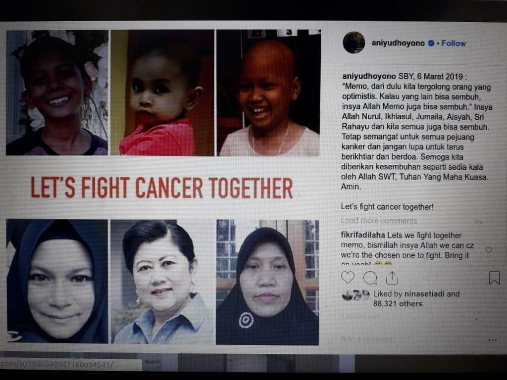 Ani Yudhoyono: Lets Fight Cancer Together