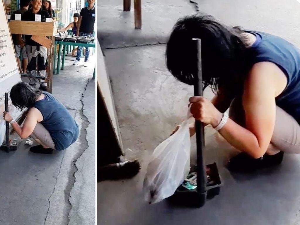 Diberi Makan Gratis, Wanita Ini Bersihkan Restoran Sebagai Rasa Terima Kasih