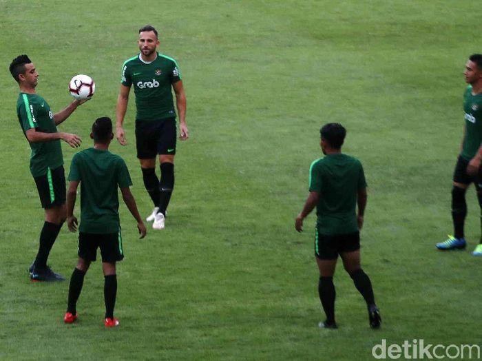Pemain Timnas Indonesia menjalani pemusatan latihan. (Foto: Pradita Utama/detikcom)