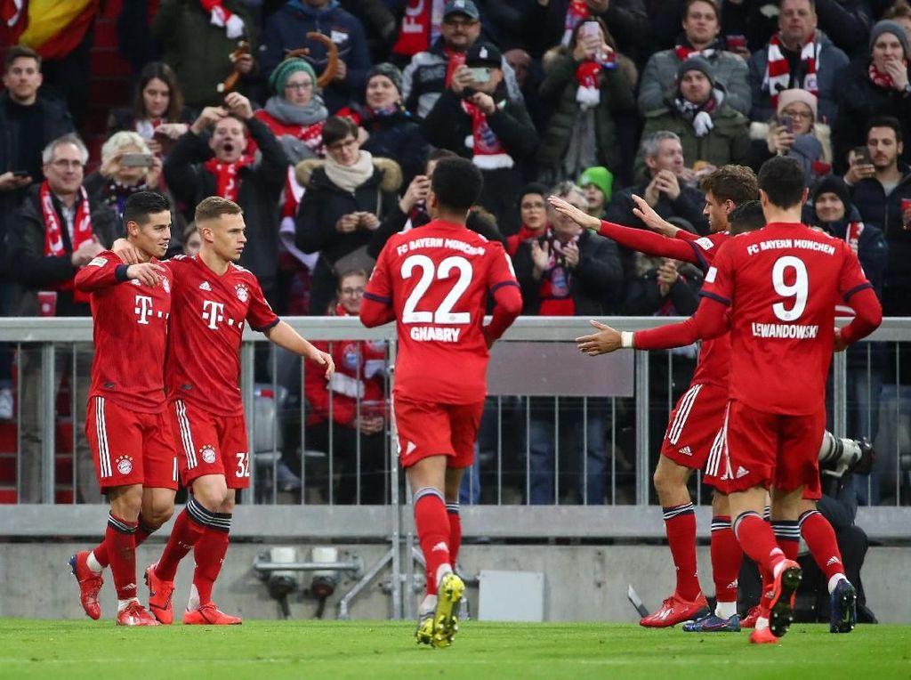 Hasil Liga Jerman: Hajar Wolfsburg, Bayern Salip Dortmund