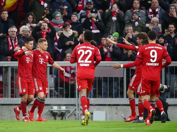 Bayern Munich saat mencukur Wolfsburg 6-0. (Foto: Michael Dalder/Reuters)