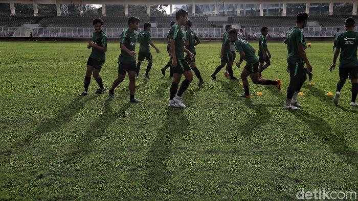 30 pemain Timnas Indonesia U-23 sudah bertolak ke Bali guna menjalani pemusatan latihan jelang berlaga di Kualifikasi Piala Asia U-23. (Foto: Pradita Utama/detikcom)