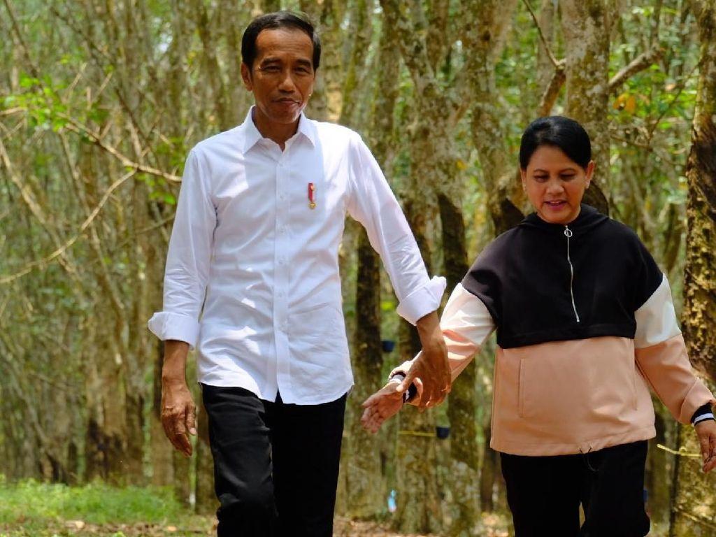 Jokowi Akui Susah Luluhkan Hati Iriana
