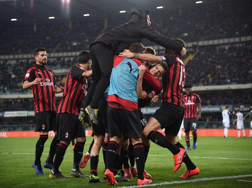 Hasil Liga Italia: Milan Taklukkan Chievo 2-1
