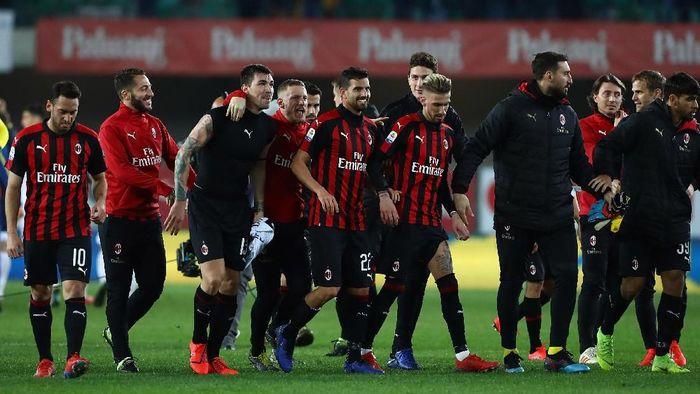 AC Milan menang 2-1 atas Chievo di lanjutan Liga Italia (Foto: Marco Luzzani/Getty Images)