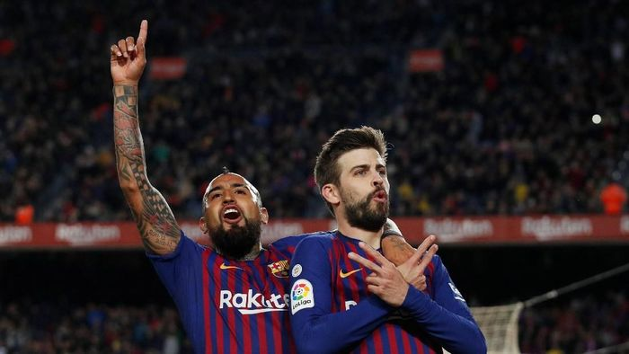 Barcelona menjadi harapan terakhir Spanyol di Liga Champions musim ini. Malam nanti Barcelona akan menjamu Olympique Lyon (REUTERS/Albert Gea)