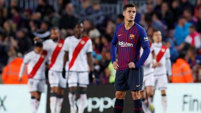 Performa Philippe Coutinho bersama Barcelona kerap dikritik (Foto: Albert Gea/Reuters)