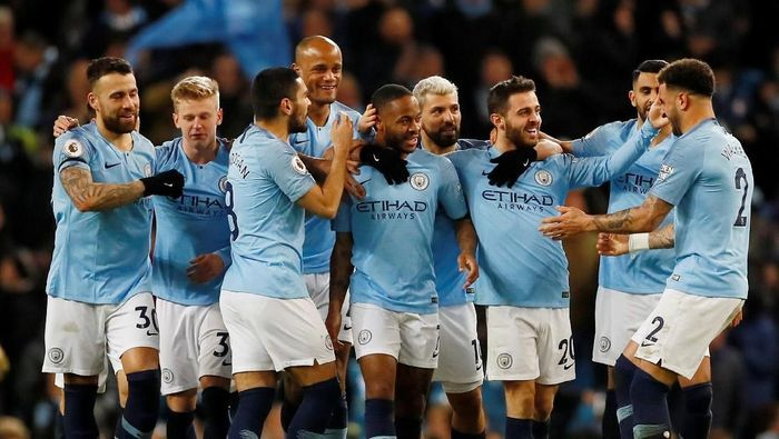 Manchester City dalam jalur meraih quadruple. (Foto: Jason Cairnduff/Action Images via Reuters)
