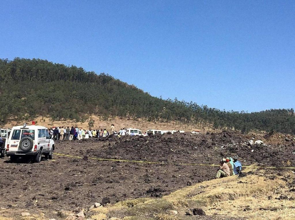 Kemlu Cek Kabar WNI Korban Tewas Jatuhnya Pesawat Ethiopian Airlines