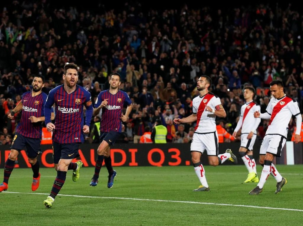 Hasil Liga Spanyol: Comeback, Barcelona Bekuk Rayo Vallecano 3-1