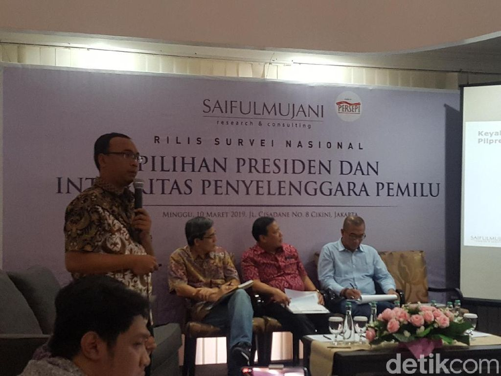 SMRC: Pro-Jokowi Lebih Percaya ke KPU-Bawaslu Dibanding Pro-Prabowo